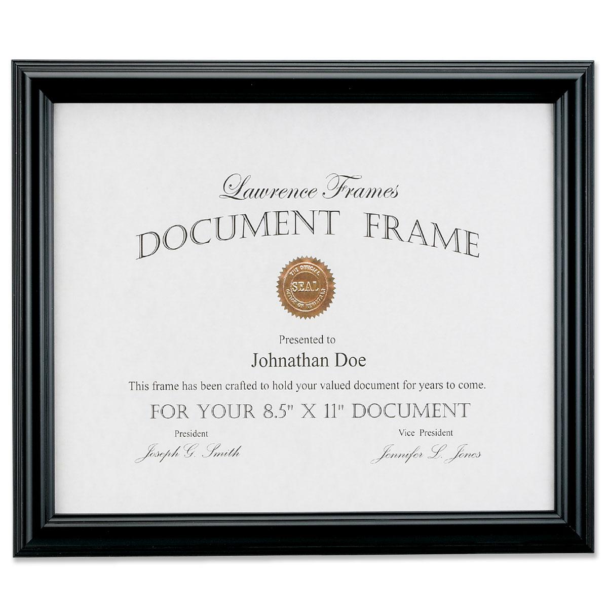 185081 Black Document 8.5x11 Picture Frame   PhotoFrames.net
