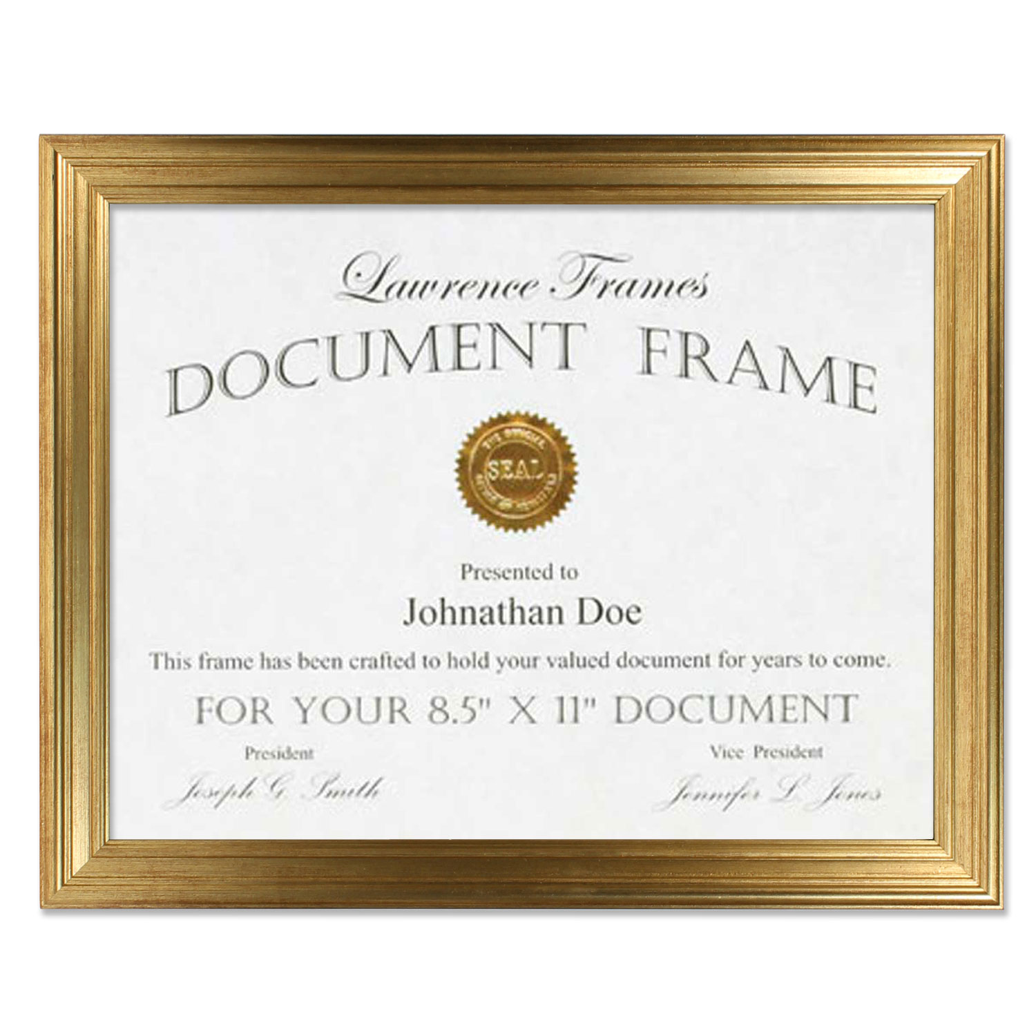 8.5x11 Sutter Burnished Gold Picture Frame | PhotoFrames.net
