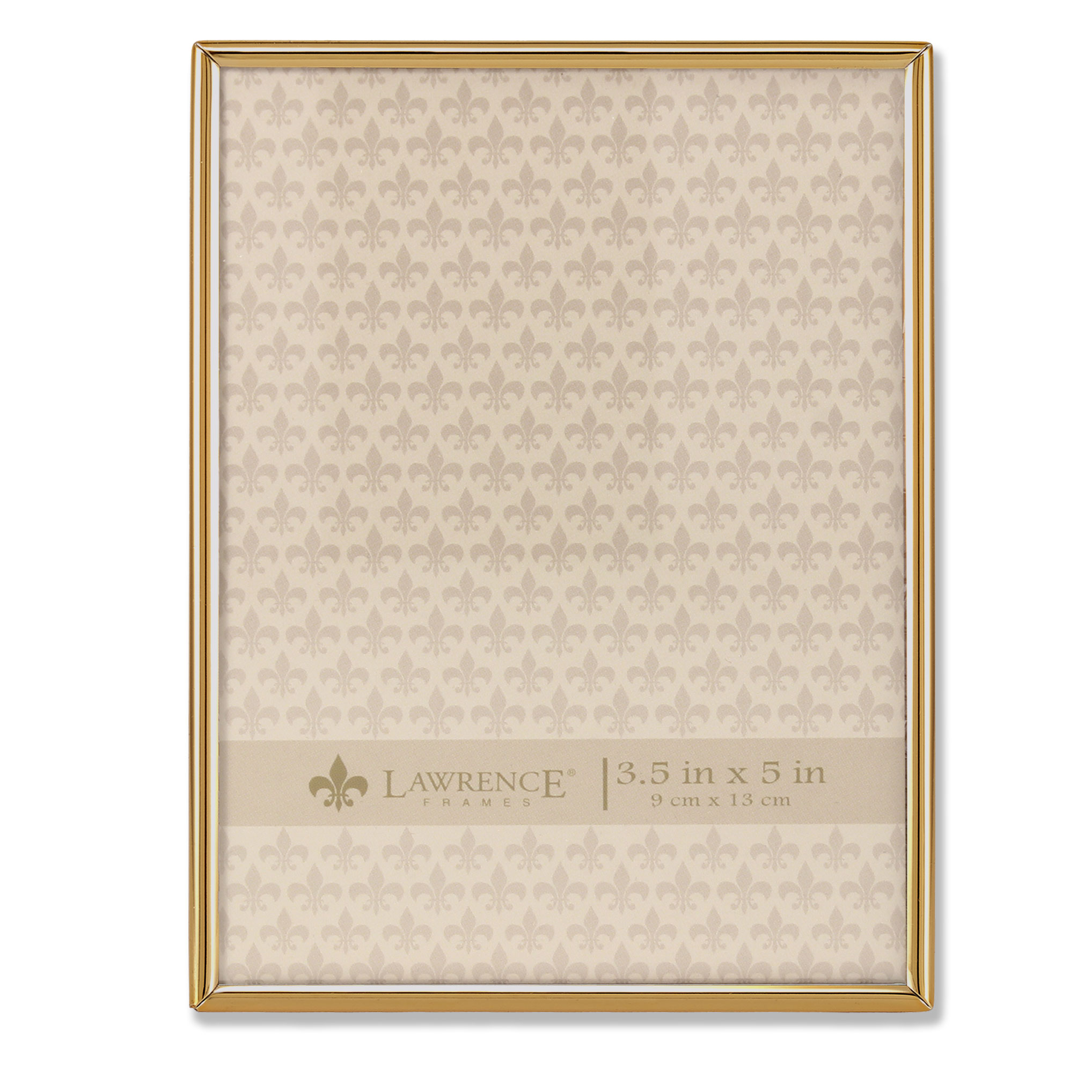 3.5x5 Simply Gold Metal Picture Frame | PhotoFrames.net
