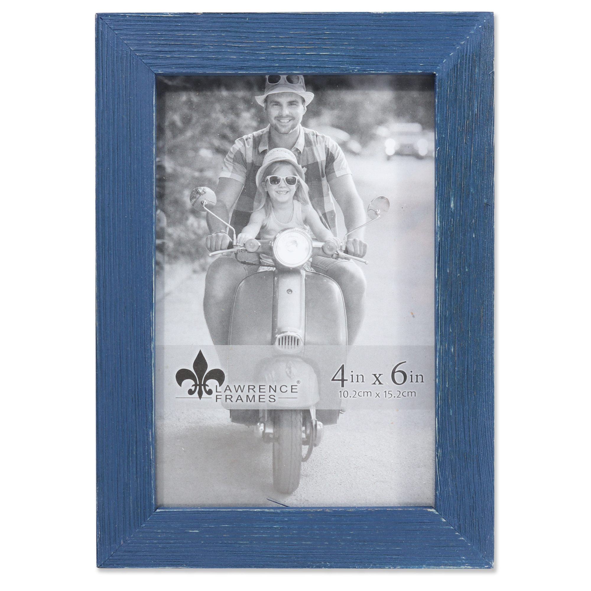 4x6 Charlotte Weathered Navy Blue Wood Picture Frame | PhotoFrames.net