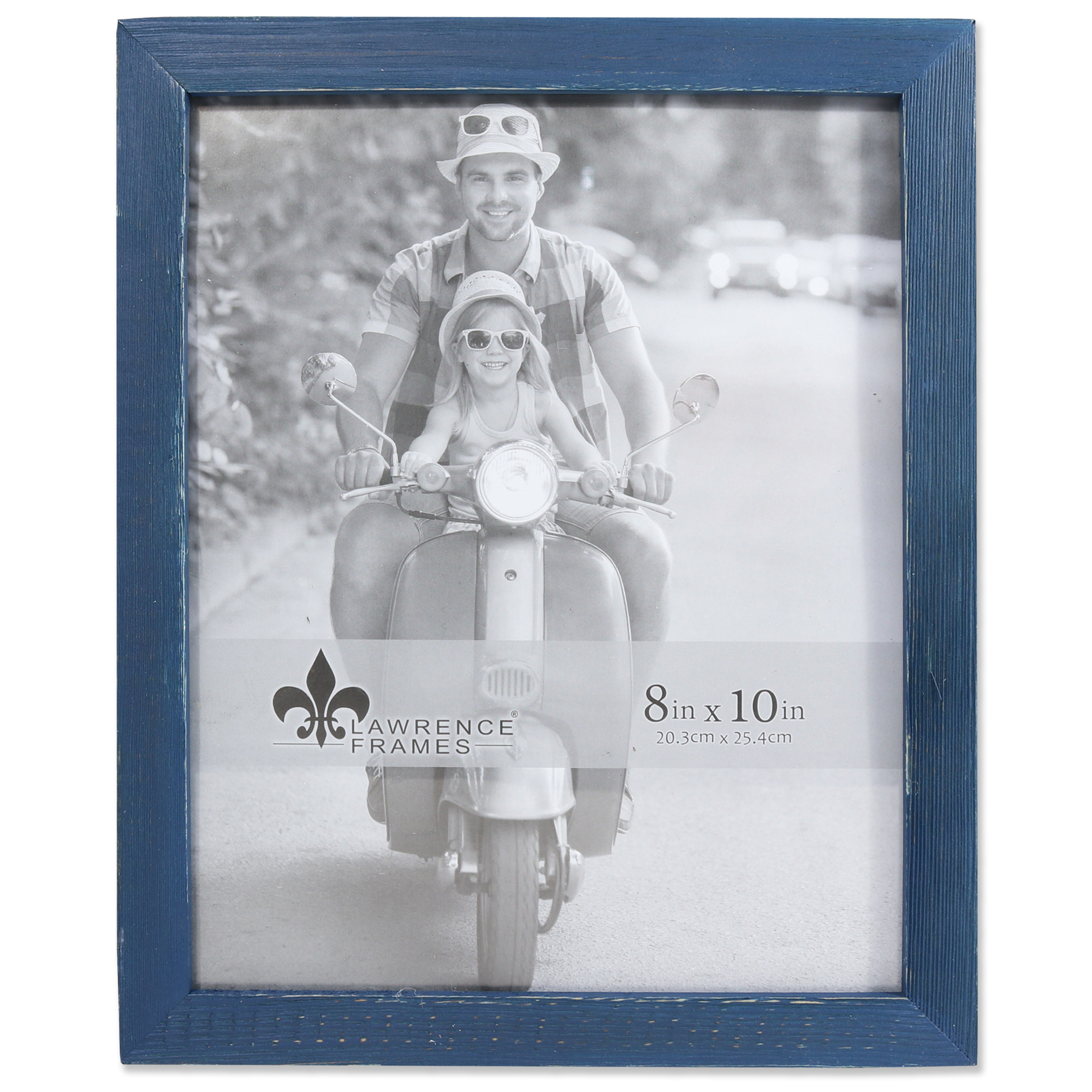 8x10 Charlotte Weathered Navy Blue Wood Picture Frame | PhotoFrames.net