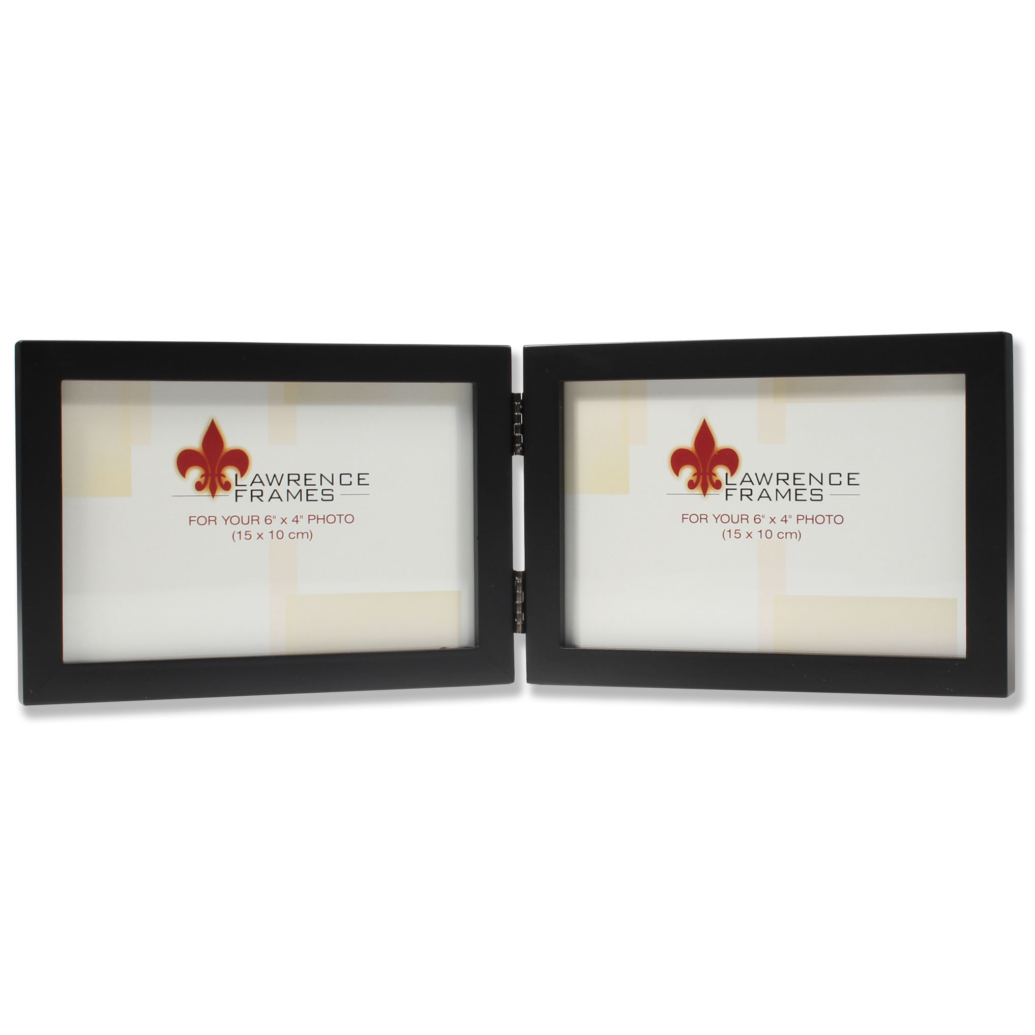 4x6 Hinged Double (Horizontal) Black Wood Picture Frame - Gallery ...