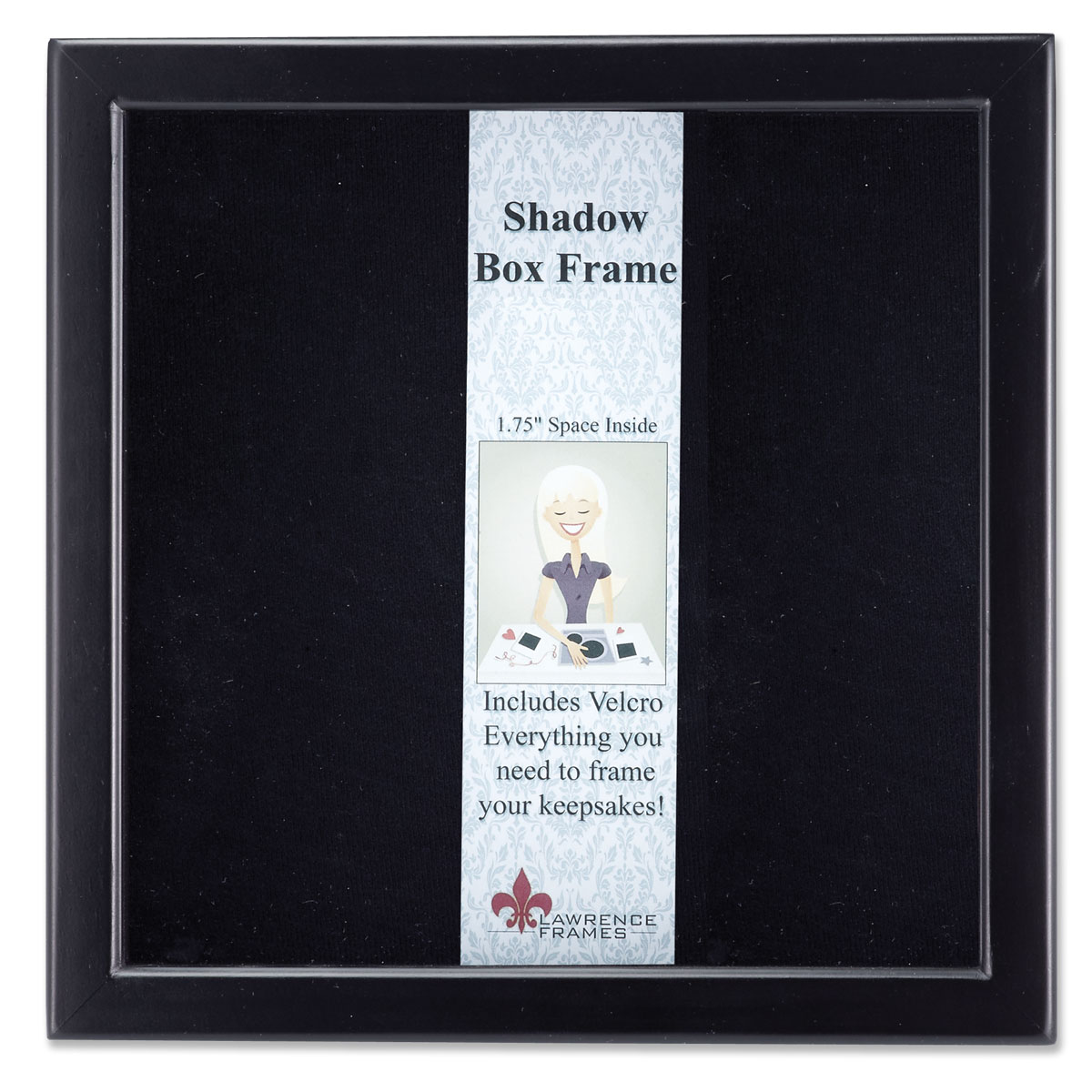 790088 black wood shadow box 8x8 picture frame photoframes 790088 black wood shadow box 8x8 picture frame jeuxipadfo Gallery