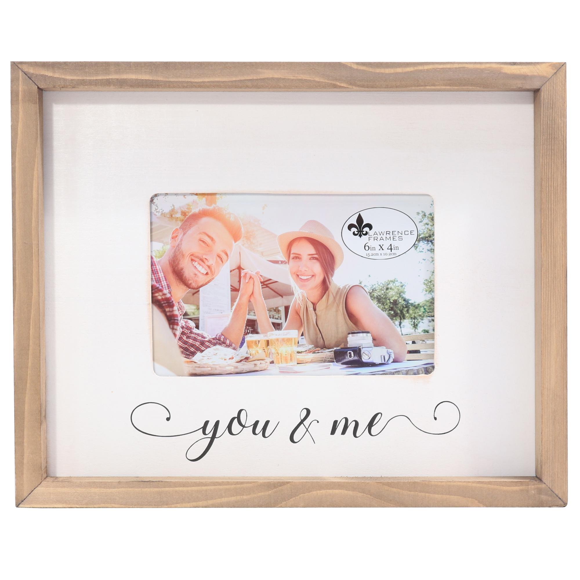 4x6 Farmhouse Wood Frame You And Me Photoframesnet