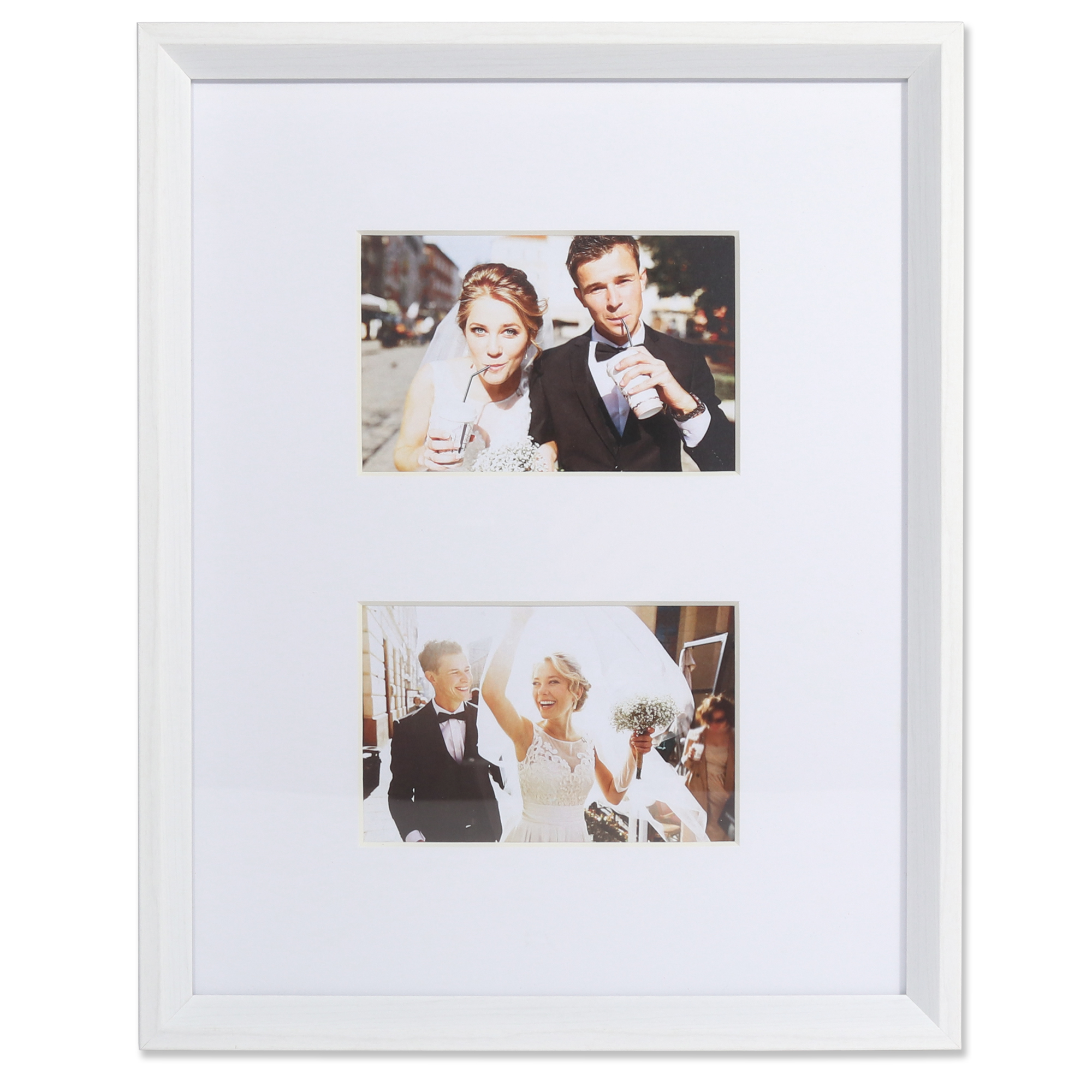 4x6 Wide Border Double Matted Frame - Gallery White 11x14 ...