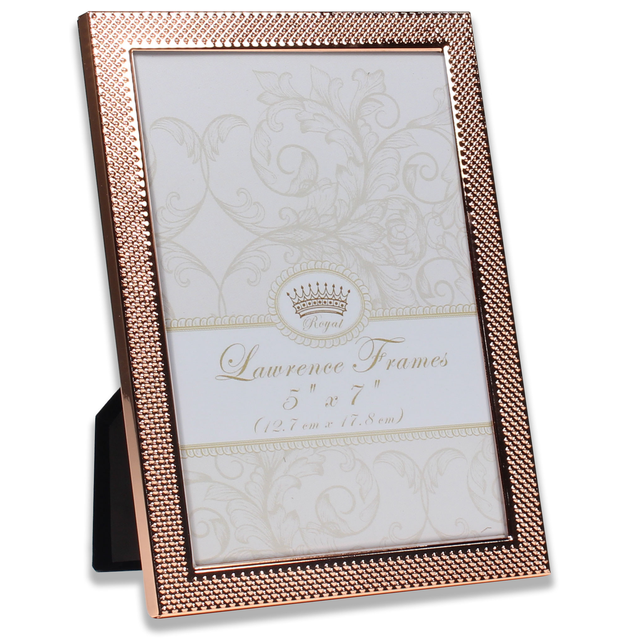5x7 Fawn Pin Dot Pattern Copper Picture Frame | PhotoFrames.net