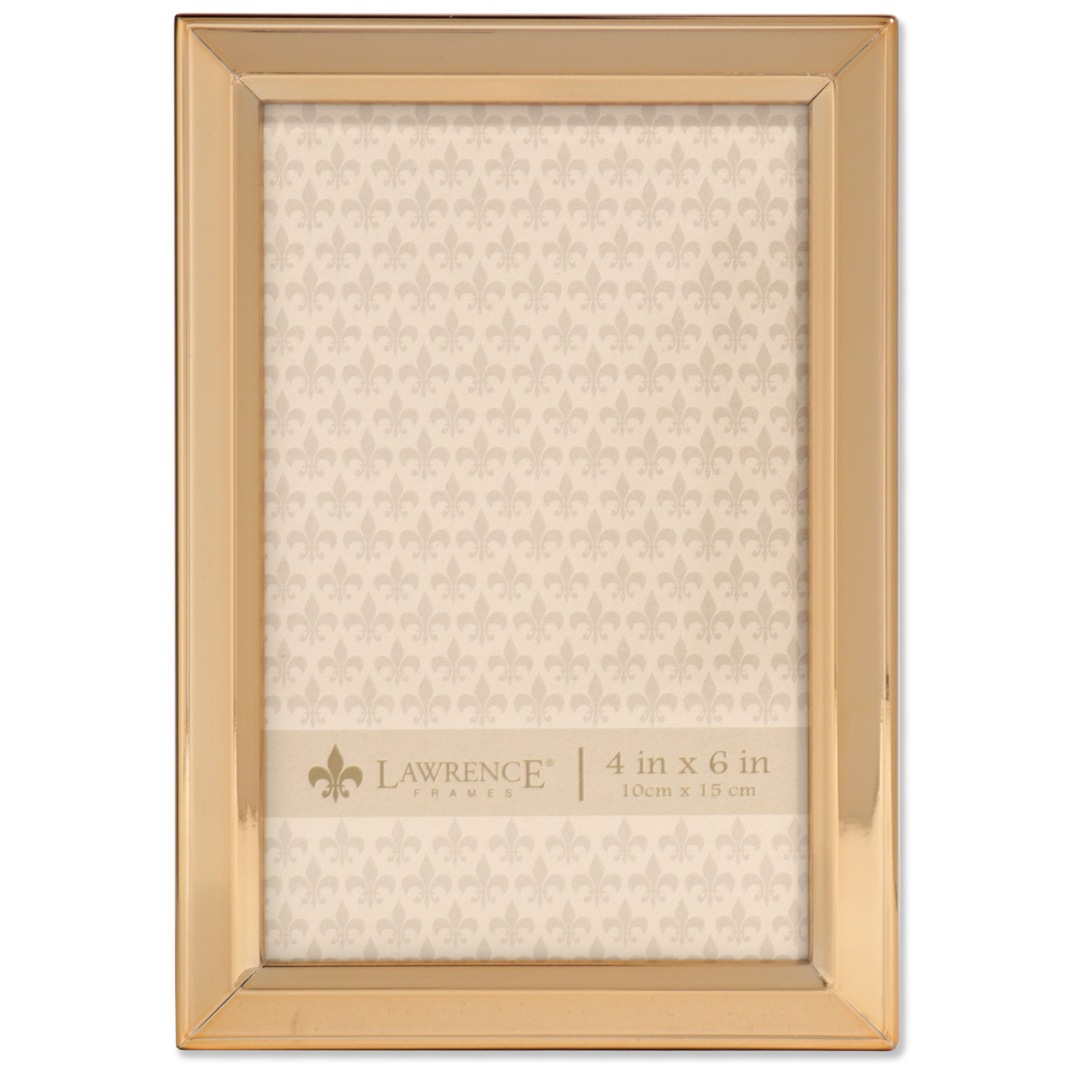 4x6 Gold Metal Picture Frame - Classic Bevel | PhotoFrames.net