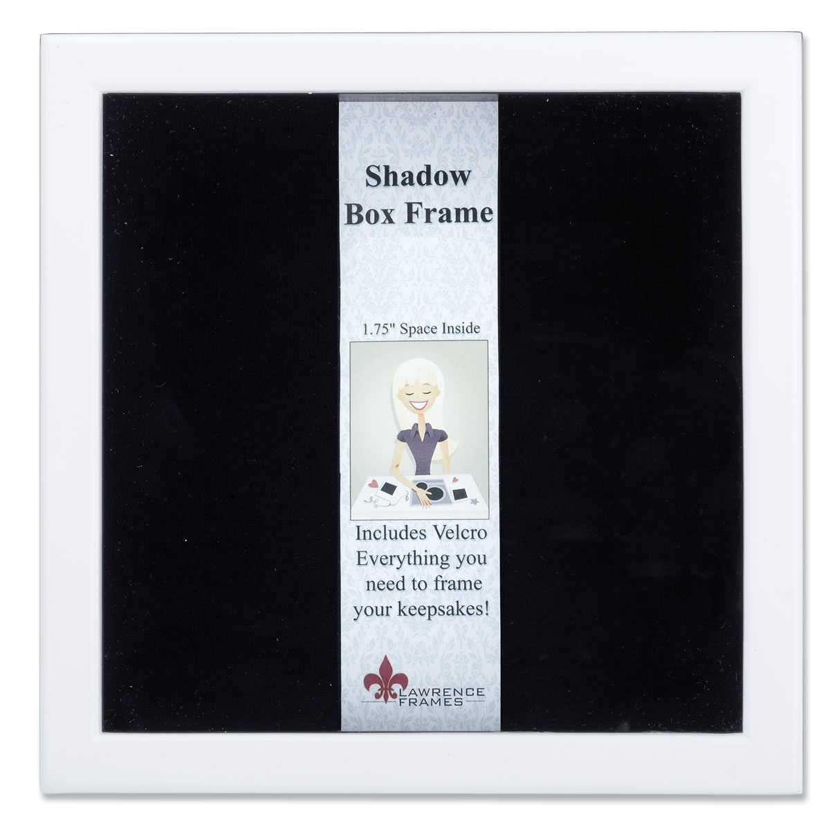 790212 White Wood Shadow Box 12x12 Picture Frame | PhotoFrames.net
